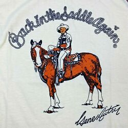 Vintage Gene Autry Kids T-shirt Back In The Saddle Again Sport Specialties Tag