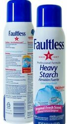 Faultless Heavy Spray Starch 15 Oz Cans Pack Of 12