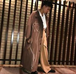 Yohji Yamamoto 17aw Pour Homme Discharge Overcoat Size 3 Brown Used F/s From Jpn
