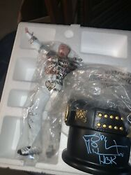 Wwe Signed Shawn Michaels Championship Title Collection Statue Wwf