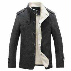 Wool Blend Coats Winter Fashion Men's High Quality Clothing Thick Warm Overcoat