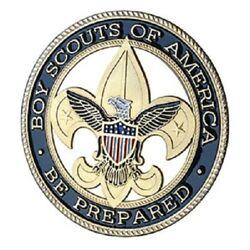 U.s. United States   Boy Scouts Of America Bsa   Gold Plated Challenge Coin
