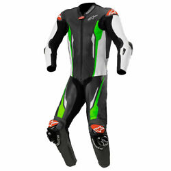 Alpinestars Racing Absolute Tech-air One Piece Suit Black / White / Green