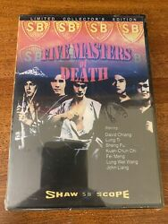 Five Masters Of Death Dvd New And Sealed Kung Fu Martial Arts