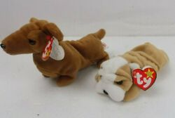 Ty Beanie Babys - Lot Of Two Dogs - Wrinkles And Weenie / Tags