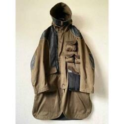 Issey Miyake Switching Leather Cotton Mods Coat Size 2 Men Free Shipping From Jp
