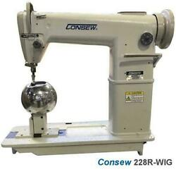 Consew 228r-wig High Speed Post Bed 1 Needle Wig Sewing Machine