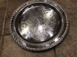 Wm Rogers And Son Platter 2070 Spring Flower