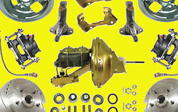 Gm Power Performance Disc Brake Kit Brakes 2 Drop Spindle Drilled Slotted New