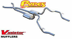 Pypes 70+ F X Body Dual Exhaust System 2.5 X-pipe Stainless Violator Mufflers
