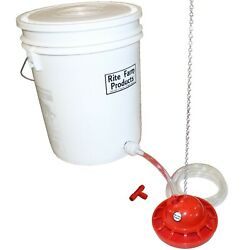 RITE FARM PRODUCTS AUTO PRO CHICK WATERER COMPLETE KIT CHICKEN DRINKER AUTOMATIC