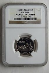 2000 S Clad Us State Quarters Proof Set Ngc Pf70 Ultra Cameo