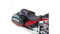 Drag Low Profile 2-up Seat Red Diamond Stitch Solar Vinyl Indian Touring And03914+