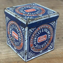 Antique Huntley Palmers Superior Reading Biscuits Miniature Salesman Sample Tin