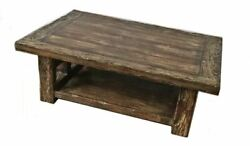 Rustic Railroad Cocktail Coffee Accent Table Furniture