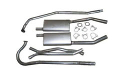 1955-56 Corvette V-8 Dual Exhaust, 304 Stainless. For Cars With 2 Bolt Manifolds
