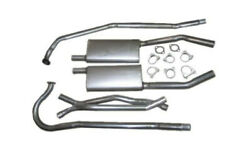 1955-56 Corvette V-8 Dual Exhaust 304 Stainless. For Cars With 2 Bolt Manifolds