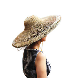Chinese Sichuang Traditional Bamboo Hat Asian Straw Hats Dia. 20.5