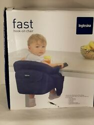 Inglesina Baby Toddler Fast Hook-on Table Black Chair