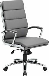 Boss Executive Caressoftplus Chair With Metal Chrome Finish New