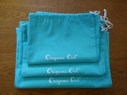 Origami Owl Drawstring Totes for Display Busts; 3 Sizes Set of 6 $10.00