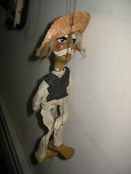 Vintage Walt Disney Productions 13 Mexican Old Man Puppet Marionette