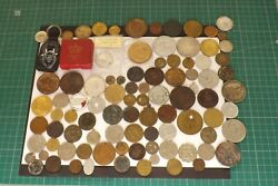 Large Collection Of 92 Coins Medals Tokens House Clearance Find