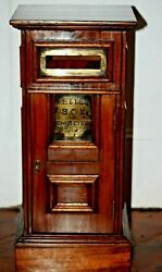 Rare Wooden Manor House Country Post Box For Letters