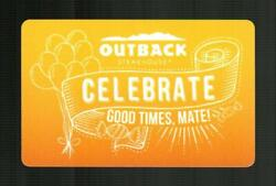 Outback Steakhouse Celebrate Good Times Mate 2015 Gift Card 0