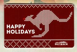 Outback Steakhouse Happy Holidays 2020 Gift Card 0