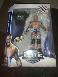Wwe Randy Orton Hand Signed Elite Collection Series 35 Blue Trunks Mattel
