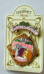 Dlp Disney Lady And Tramp Pizzeria Bella Notte Gourmet Pin Trading Event 83600