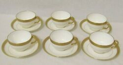 Antique Minton Gold Encrusted H1935 Cup Saucer Soup Bowl And Saucer Demitasse Cup