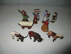 Western Covered Wagon Thanksgiving Figures Toy Lot