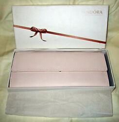 Pandora Unforgettable Moments Pink Travel Jewelry Case Clutch Wallet Promo New