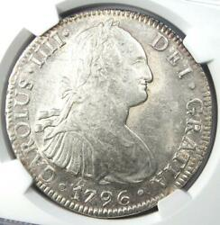 1796-mo Fm Mexico Charles Iv 8 Reales Coin 8r - Certified Ngc Ms62 Bu Unc