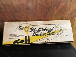 Vintage 50s 60s The Pet Nos Shuffle Board And Bowling Sets Complete Never Used