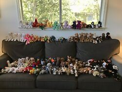 Ty Beanie Babies Collection Over 100 With Rare Finds Including Princess Diana