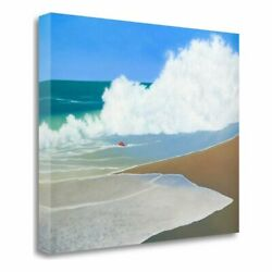 32 X 40 Red Pail In The Sand Giclee Print On Gallery Wrap Canvas