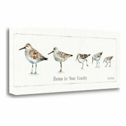 12 X 28 Pebbles And Sandpipers Ix Giclee Print On Gallery Wrap Canvas