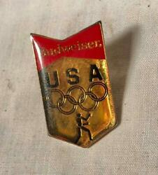 Vintage 1984 Budweiser Usa Olympic Boxing Team Pin Los Angeles