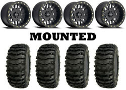 Kit 4 Sedona Buzz Saw 27x9-14/27x11-14 On Method 406 Beadlock Matte Black Pol