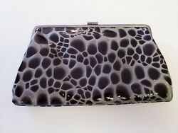 Hobo International Clutch Black Silver Purse h $34.99