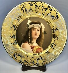 Royal Vienna Hand-painted Cleopatra Portrait Plate