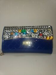 Clutch purses for women Blue $14.75