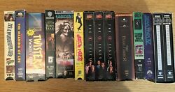 Lot Of 11 Vhs Tapes - Xfiles - Meaning Of Life - Robin Hood - Austin Powers