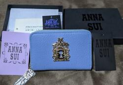 Anna Sui X Sailor Moon Authentic Space-time Key Coin Purse Wallet Saxe Blue New