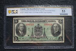 1935 5 Dollars The Royal Bank Of Canada About Unc 53 Pcgscat. 630-18-02a