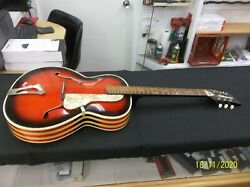Very Rare Vintage Panaramic 1960's Archtop Italy Acoustic Guitar