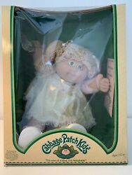 Rare Vtg 1983 Cabbage Patch Doll New In Box Blonde Hair Girl W/adoption Papers